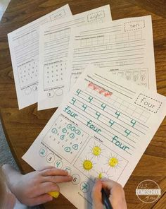 These handy, FREE Number Worksheets are the perfect NO PREP tool for helping kids practice counting to 20 and writing numbers too. Number Words Worksheets, Pre K Worksheets, Shapes Worksheet Kindergarten, Free Printable Math Worksheets, Numbers Kindergarten, Writing Worksheets, Preschool Kindergarten, Easter Worksheets, Kindergarten Reading