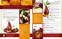 Alan Spedding , Cumbriafoodie recipe. Vanilla Panna Cotta, Gin, Red Wine, Pear, Roast, Fruit, Cooking, Recipes, Food