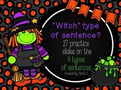4 types of sentences powerpoint practice