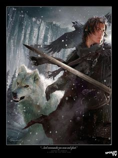 Game of Thrones - Jon Snow character by Michael Kormack.
