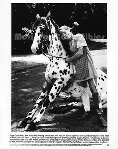 The New Adventures of Pippi Longstocking 8x10 Photo Tami Erin & horse