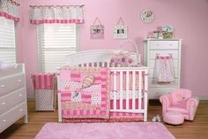 Dr. Seuss Nursery Oh! The Places You'll Go Pink 3pc Baby Girl Crib Bedding Set
