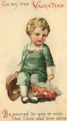 Shop Vintage Retro Cute Victorian Baby Valentine Card created by kinhinputainwelte. My Funny Valentine, Free Valentine Cards, Valentine Images, Valentines Greetings, Vintage Valentine Cards, Valentines For Kids, Vintage Cards, Vintage Postcards, Vintage Posters