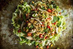 Spicy Lemongrass Peanut Thai Quinoa Salad | Heather Christo
