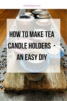 How to make tea candle holders - an easy DIY. Fast and easy Christmas gift you can make with the whole family. Or just make candle holders for yourself and decorate them around your fire place.  Christmas gift made easy. – Colorful Designer Christmas Gift You Can Make, Easy Christmas Decorations, Great Christmas Presents, Simple Christmas, Room Decorations, Christmas Gifts, Thanksgiving Decorations, Tea Candle Holders, Concrete Candle Holders