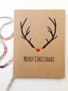 Christmas Cards Drawing, Christmas Card Crafts, Homemade Christmas Cards, Christmas Gift Wrapping, Xmas Cards, Rustic Christmas, Handmade Christmas, Holiday Cards, Christmas Christmas