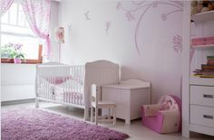 Baby girl room ideas pink and gray fuchsia and white baby room the plush purple floor . Baby Nursery Diy, Baby Nursery Themes, Nursery Room, Girl Nursery, Nursery Ideas, Room Baby, Bedroom Ideas, Girl Bedroom Designs, Girls Bedroom