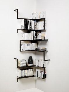 牆角簡緻書櫃設計   MyDesy 淘靈感