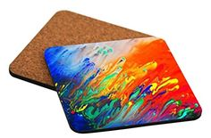 """Rikki Knight """"Abstract Watercolor Diagonal Painting Design"""" Square Beer Coasters Rikki Knight LLC http://www.amazon.com/dp/B00JKMWYWQ/ref=cm_sw_r_pi_dp_Wh27vb07444AT"""