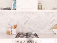 Image result for herringbone splashbacks