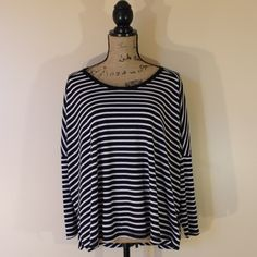 LAST CHANCE❗️Striped Thermal Swing Top Adorable striped swingy thermal top from Old Navy. NWT. Size small. So cute and casual. Love this with some black skinnies or leggings and booties! Make an offer or bundle to save  Old Navy Tops Tees - Long Sleeve