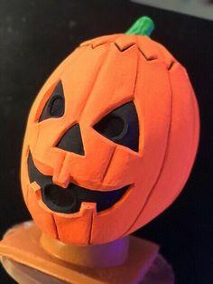MINT~vtg~82~Don~Post~glo~PUMPKIN~shamrock~mask~HalloweeN~3~III~myers~skull~witch Halloween Masks, Pumpkin Carving, Witch, Skull, Mint, Pumpkin Carvings, Witches, Witch Makeup, Wicked