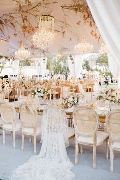 This open-air reception features an ethereal feel with neutral decor, gold accents, and white blooms Image by Imaj Gallery Beach Wedding Reception, Bali Wedding, Tent Wedding, Destination Wedding, Beach Weddings, Garden Weddings, Reception Ideas, Ireland Wedding, White Weddings
