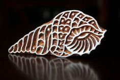Hand Carved Indian Wood Textile Stamp Block by charancreations