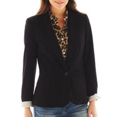Bought it on 4/15. jcp™ Knit Blazer in Black found at @JCPenney. To complete a casual look. $39.99