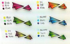 Mini Copic Coloring Chart by thedailymarker, via Flickr