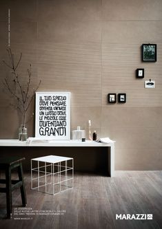 great mix of timber look & porcelain tiles