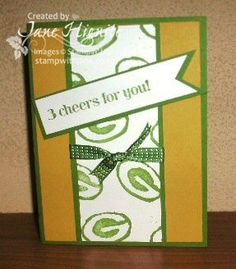 Stampin' Up! Undefined Hand-Carved Stamp Packer G, Green Bay Packer handmade stamp, Stampin' Up! Undefined Stamp System, create your own stamps, Happy Hour stamp set, masculine cards, football cards, teenage boy cards