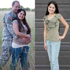 Angela started on the program while her husband served us all overseas, and Angela lost 40lbs while he was gone! Can you imagine the surprise on his face when he returned? This program is such a blessing!