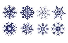 8 Free Snowflake Vectors for Your Winter Designs - It's now over four years since I posted my first set of vector snow flakes. I remember the origin - Snowflake Outline, Snowflake Designs, Snowflake Pattern, Simple Snowflake, Christmas Crafts, Christmas Decorations, Xmas, Christmas Ornaments, Christmas Print