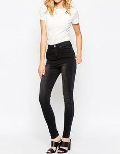 Image 1 ofGrain Denim High Waist Heavy Worn Skinny Jeans