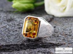 Ring, Citrin 9,81ct in 925er Silber von Schmuckbotschaften auf DaWanda.com
