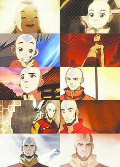 Legend of Korra/ Avatar the last Airbender: Aang through the years (animated puberty done amazingly well) Avatar Aang, Team Avatar, The Last Avatar, Avatar The Last Airbender Art, Legend Of Aang, Avatar Cartoon, Avatar World, Avatar Series, The Last Airbender