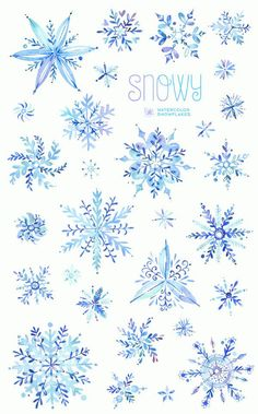 Watercolor winter clipart snowflakes christmas holiday invitations greetings card diy decoration merry blue png - Invitatioin Card - Ideas of Invitatioin Card - Snowy. Watercolor winter clipart snowflakes by StarJamforKids Christmas Clipart, Christmas Art, Christmas Holidays, Christmas Snowflakes, Winter Cliparts, Clipart Noel, Ideas Scrapbook, Snow Flake Tattoo, Harry Potter Disney