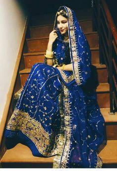 Custom hand embroidered Rajputi poshak for wedding Royal Blue Outfits, Royal Blue Gown, Royal Royal, Dress Indian Style, Indian Dresses, Indian Outfits, Royal Blue Bridesmaid Dresses, Royal Dresses, Indian Wedding Bride