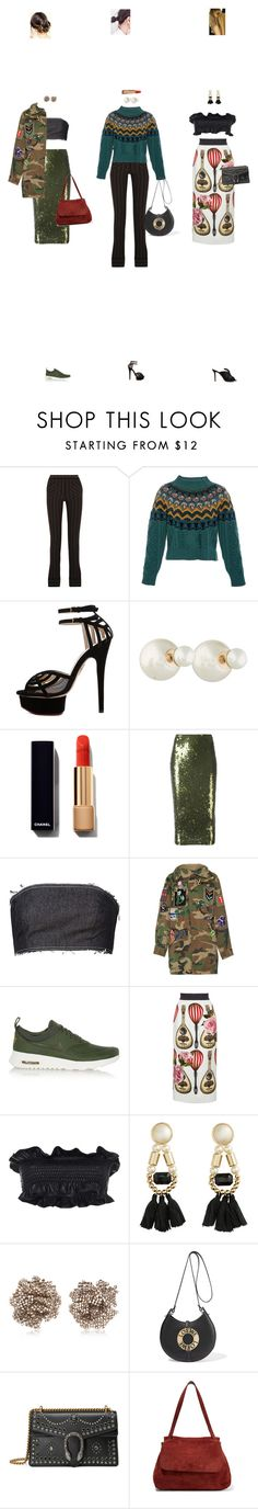 """""""Jan. 05, 2017"""" by chocohearts08 ❤ liked on Polyvore featuring J.W. Anderson, Temperley London, Charlotte Olympia, Christian Dior, Chanel, P.A.R.O.S.H., Kalmanovich, Marc Jacobs, NIKE and Dolce&Gabbana"""