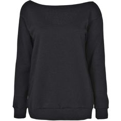 Boohoo Charlotte V Back Long Sleeve Sweat Top ($26) ❤ liked on Polyvore featuring tops, hoodies, sweatshirts, sweaters, shirts, long sleeves, cotton sweatshirt, long sleeve shirts, extra long sleeve shirts and sweatshirts hoodies