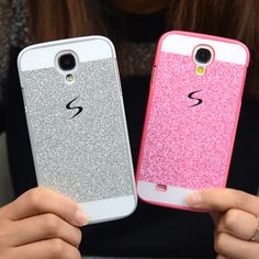 2015 Luxury Glitter Case For Samsung Galaxy S4 s4 i9500 Sparkle Bling Skin Glam Hard Plastic Back Cover Shell Cell phone Cases