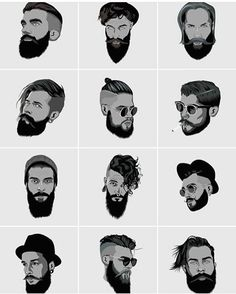 Men's Hairstyle Infographic. Featuring Many new and trendy hairstyles for men.