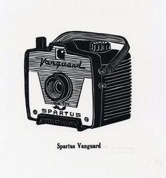 Vintage Camera Series - Letterpress Linoleum Prints