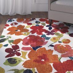Red Barrel Studio Channel Floral Multi-Printed Area Rug Rug Size: 5' x 8'