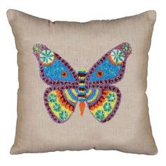 Design Works™ Butterfly Punch Needle Pillow Cover Punch Needle $15.99