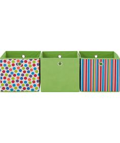 Buy Modular Spots and Stripes Set of 3 Storage Cubes - Multi at Argos.co.uk - Your Online Shop for Children's furniture, Limited stock Home and garden, Storage baskets and boxes, Children's toy boxes and storage.