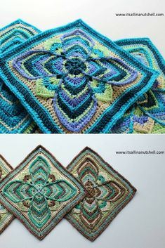 Crochet Square Pattern: Nuts about Squares CAL – Week 12