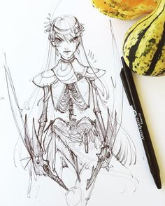 """12.5k Likes, 68 Comments - Tori (@torianne00) on Instagram: """"Winging it for Inktober Day Five 👍 found a random ballpoint pen, no pencil sketch, just letting the…"""""""
