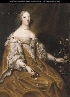 Portrait of a lady - (after) Justus Van Egmont Jasmine Oil, Oil On Canvas, Van, Portrait, Painting, Painted Canvas, Vans, Men Portrait, Painting Art