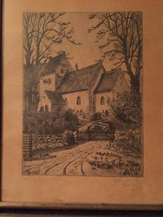 Sonder Asmindrup Kirken, Holbæk kommune. This is a Church my Ancestors helped to build at the end of the Viking Age. The pencil and ink sketch dates back to 1925 and was given to me by my Onkel Jens Christian Jensen upon my arrival in Danmark in 2010. I was the first person from my family to return home to Danmark in over 100 years.