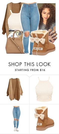 """""""Untitled #344"""" by gabb-slayy ❤ liked on Polyvore featuring Ray-Ban and UGG Australia"""