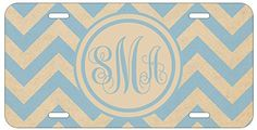 Personalized Monogrammed Chevron Vintage Light Blue Car License Plate Auto Tag Top Craft Case http://www.amazon.com/dp/B00LNTDELY/ref=cm_sw_r_pi_dp_eLptub1NXSNZ0