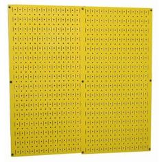 Yellow Metal Pegboard Pack at The Home Depot - I may use this for my jewelry frame!