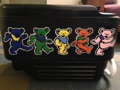 Fraternity Coolers, Frat Coolers, Nola Cooler, Tangled Concept Art, Grateful Dead Bears, Cooler Designs, Beer Pong Tables, Cooler Painting, Easy Art Projects
