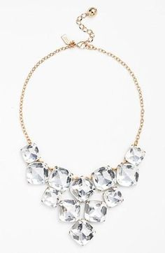Sparkly bling for the bride | Kate Spade necklace