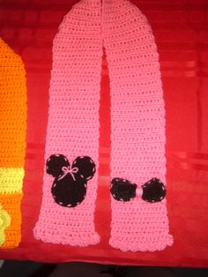 Minnie Mouse Crocheted Scarf