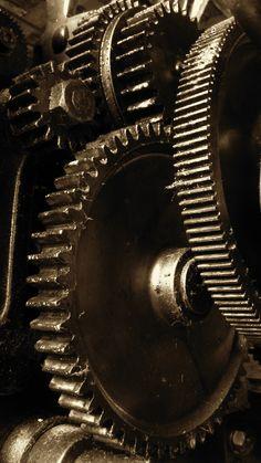 Detail of Machine Gears - Slater Mill Museum | par Slater Mill