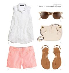 Relaxed Weekend Style - J Crew chinos