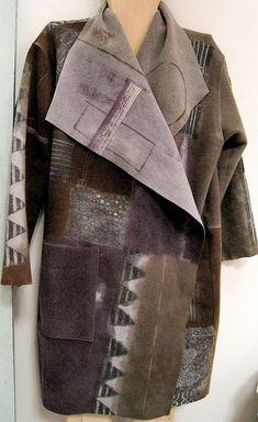 Шерсть Баклажаны К-Симпатичные Пальто